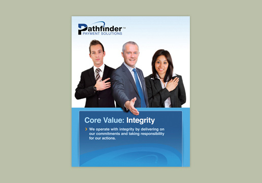 Pathfinder Payment Solutions Core Value: Integrity Wall Poster
