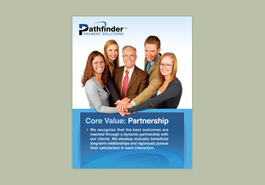 Pathfinder Payment Solutions Core Value: Partnership Wall Poster