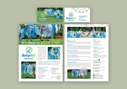 BumprBall 8.5 x 11 inch Flyer; 2-Sided Business Card