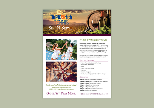 Winery Flyer Design