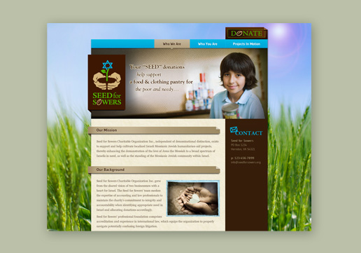 Seed for Sowers Website Design