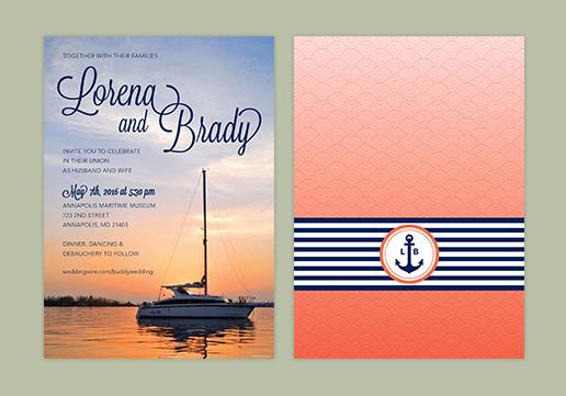 Cse identity design graphic design fairfax va wedding invitations custom wedding invitation design nautical themed wedding invitation stopboris Images